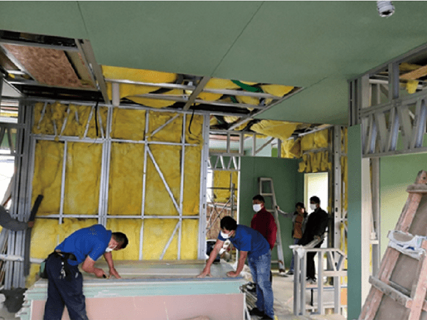 Insulation material and Gypsum Board installation