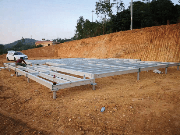 The foundation system (Concrete pouring or Pile foundation )