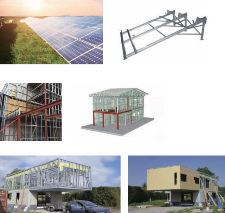 The other building - Solar bracket, Warehouse, light and heavy steel combined building.