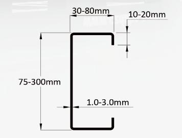 C Purlin Roll Forming Machine LS75-300
