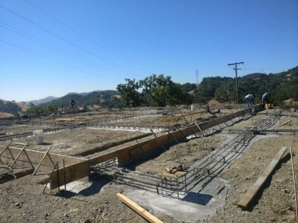 Foundation (The Pre-embedded pipe, Concrete pouring)construction