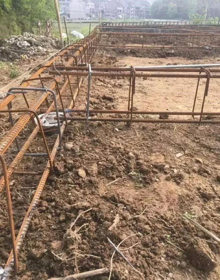 The foundation system(Concrete pouring or Pile foundation )